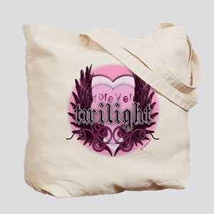 Twilight Pink Heart Wings by Twidaddy Tote Bag