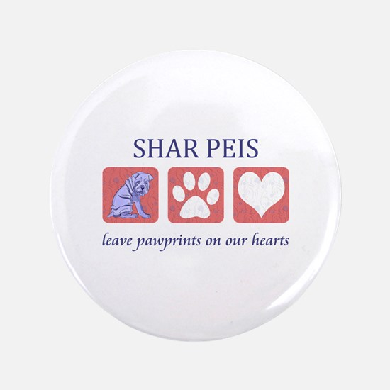 "Shar-Pei Lover Gifts 3.5"" Button"