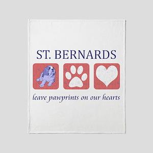 Saint Bernard Lover Throw Blanket
