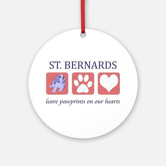 Saint Bernard Lover Ornament (Round)