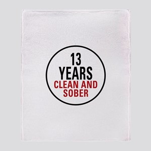 13 Years Clean & Sober Throw Blanket