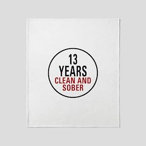 13 Years Clean & Sober Throw Blanket