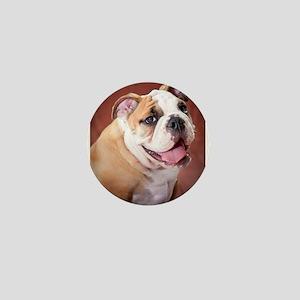 English Bulldog Puppy Mini Button