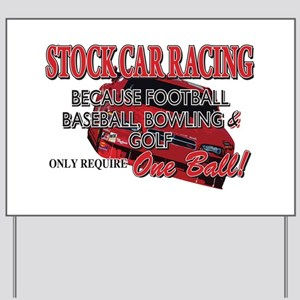 Stock Car Auto Racing Yard Sign