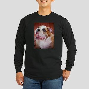 English Bulldog Puppy Long Sleeve Dark T-Shirt