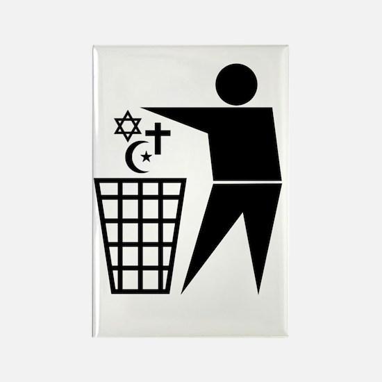 Trash Religion Rectangle Magnet