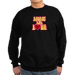 Haight Love Black Sweatshirt (dark)