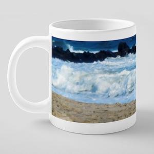 ocean beach rocks Cape May  20 oz Ceramic Mega Mug