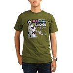 Babebraham Lincoln Organic Men's T-Shirt (dark)