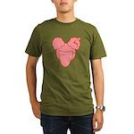 Afro Girl Organic Men's T-Shirt (dark)