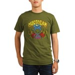 Hippie Musician Organic Men's T-Shirt (dark)