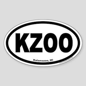 Kalamazoo Michigan KZOO Euro Oval Sticker