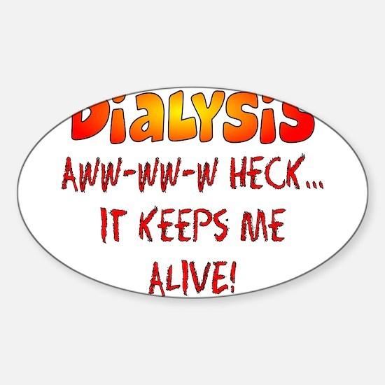 Dialysis Sticker (Oval)