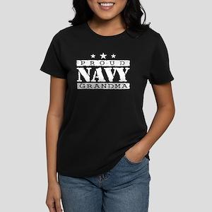Proud Navy Grandma Women's Dark T-Shirt