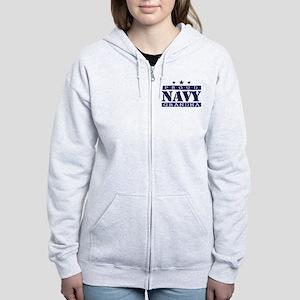 Proud Navy Grandma Women's Zip Hoodie