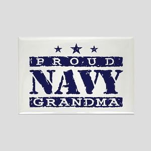 Proud Navy Grandma Rectangle Magnet