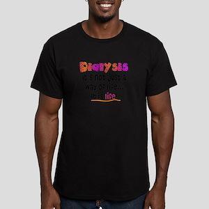 Dialysis Men's Fitted T-Shirt (dark)