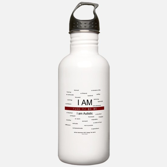 Autism ~ Free to be me Water Bottle
