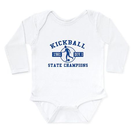 Kickball State Champions Long Sleeve Infant Bodysu