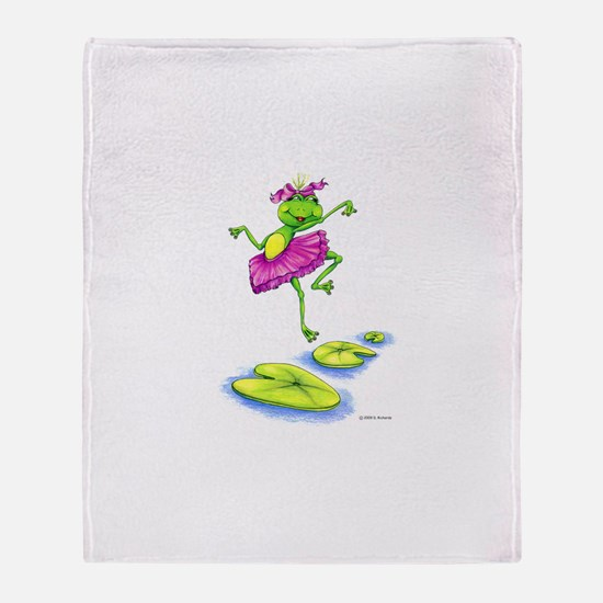 Dancing Lily Throw Blanket