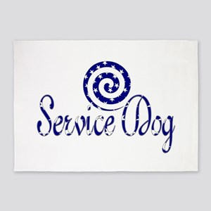SERVICE DOG SHOP 5'x7'Area Rug