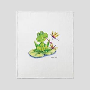 Logan the frog Throw Blanket