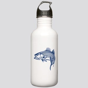 Graphic Striped Bass Stainless Water Bottle 1.0L