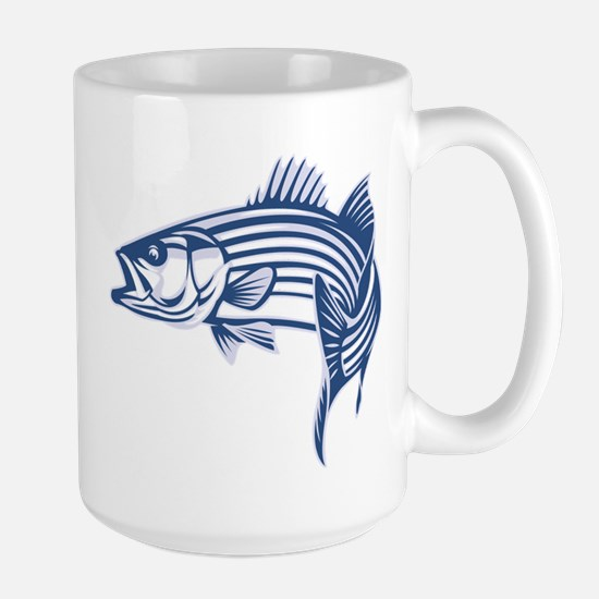 Graphic Striped Bass Large Mug
