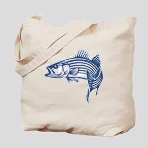 Graphic Striped Bass Tote Bag