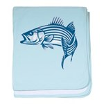 Graphic Striped Bass baby blanket