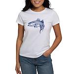 Graphic Striped Bass Women's T-Shirt