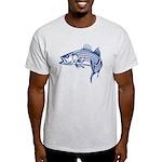 Graphic Striped Bass Light T-Shirt