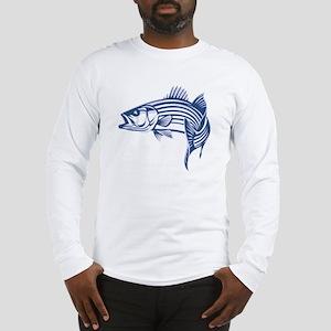 Graphic Striped Bass Long Sleeve T-Shirt