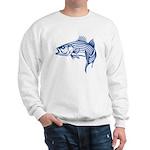 Graphic Striped Bass Sweatshirt