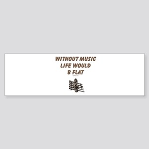 W/O Music Life's Flat Sticker (Bumper)