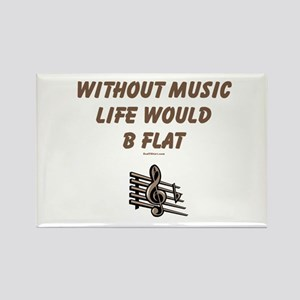 W/O Music Life's Flat Rectangle Magnet