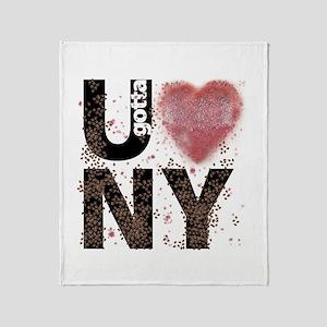 U gotta Love NY Bedbugs Throw Blanket