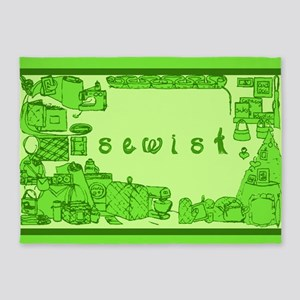 Sewist fabric font sewing border green 5'x7'Area R