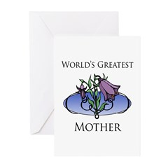 World's Greatest Mother (Floral) Greeting Cards (P