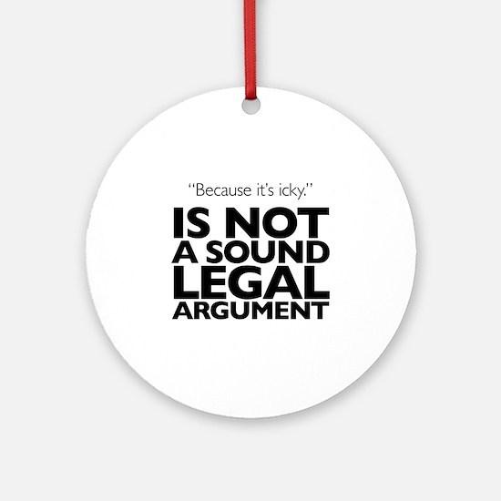 Icky Politics Ornament (Round)
