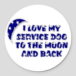 SERVICE DOG SHOP Round Car Magnet