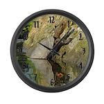Pond Turtle Basking Large Wall Clock