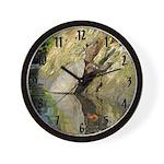 Pond Turtle Basking Wall Clock