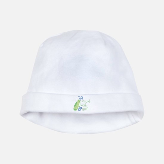 Crawl, Walk, Golf! baby hat