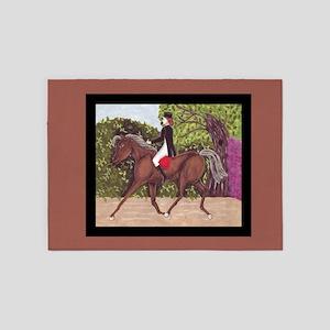 English Style Dressage Horse Riding 5'x7'Area Rug