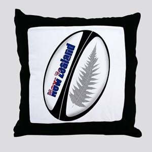 New Zealand Rugby Ball Throw Pillow