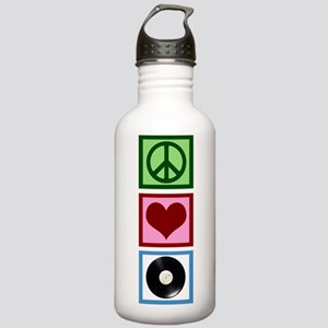 Peace Love Vinyl Stainless Water Bottle 1.0L