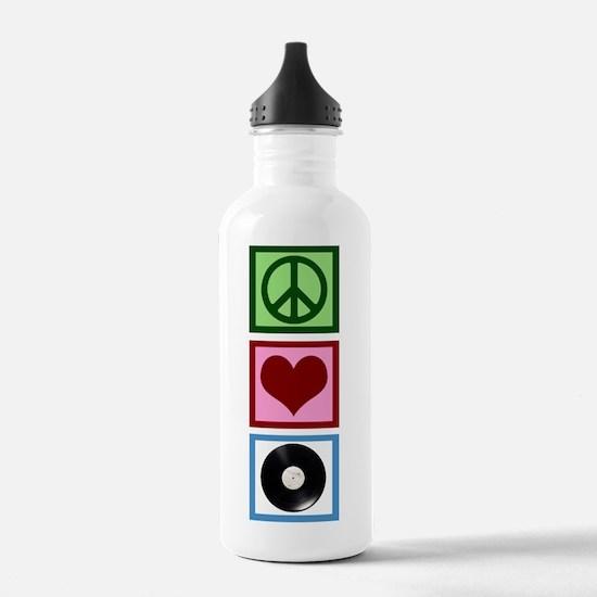 Peace Love Vinyl Water Bottle