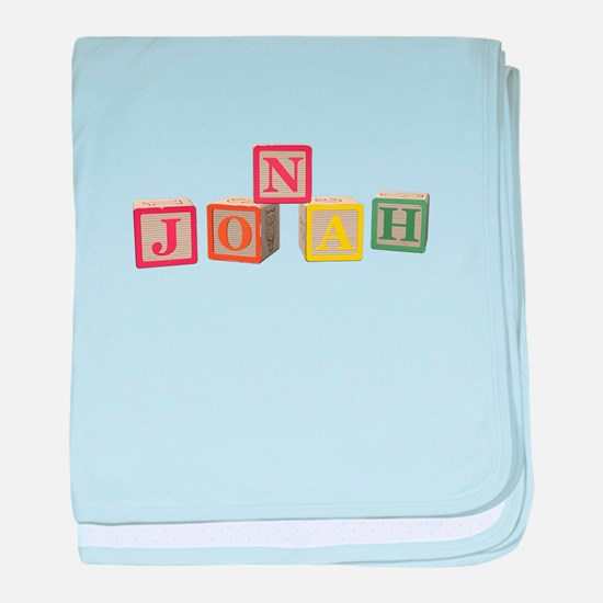 Jonah Alphabet Block baby blanket