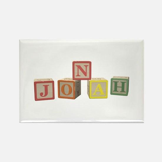 Jonah Alphabet Block Rectangle Magnet